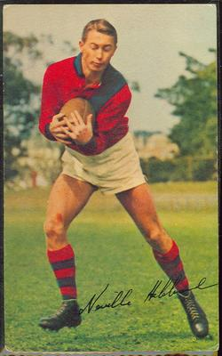 1965 Mobil Footy Photos Neville Hebbard trade card; Documents and books; 1990.2364.14