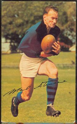 1965 Mobil Footy Photos Mal Atwell trade card