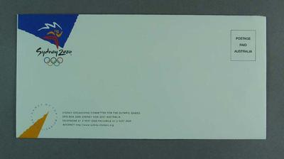 Sample Envelope - Sydney Organising Committee for the Olympic Games