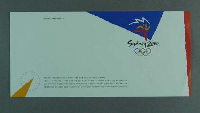 With Complements slip  - Sydney Organising Committee for the Olympic Games; Documents and books; 2004.4084.2