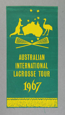 Pennant - Australian International Lacrosse Tour 1967