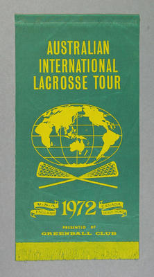Pennant - Australian International Lacrosse Tour 1972 - presented by Greenball Club