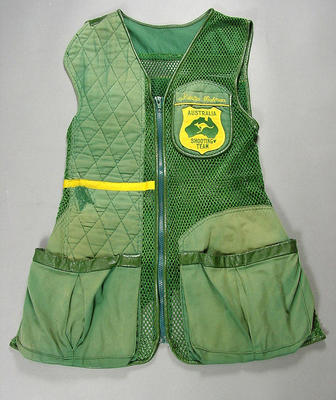 Shooting vest worn by Natalia Rahman 2002 Commonwealth Games medalist
