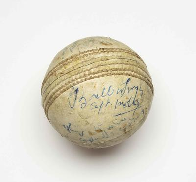 Hockey ball, used in 1956 Olympic Games final match