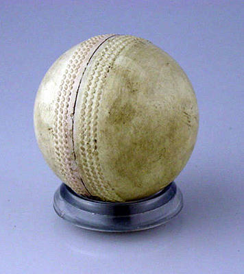 Hockey ball, used in first MCC Hockey Section match - 15 April 1961