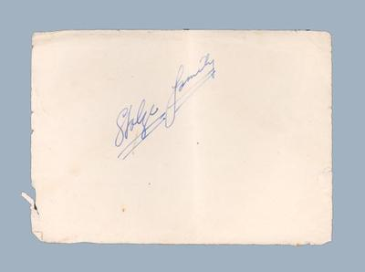 """Piece of paper, inscribed """"Stolze family"""""""