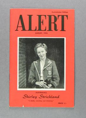 """Magazine, """"Alert"""" August 1955"""