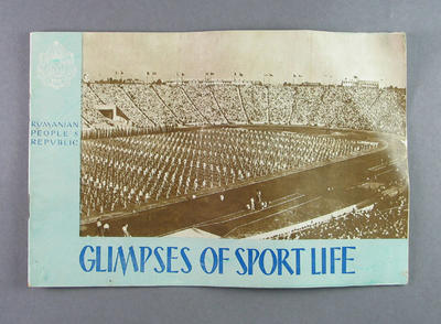 """Booklet, """"Rumanian People's Republic Glympses of Sport Life"""" c1955"""