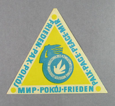 Sticker, International Friendly Sports Meeting of Youth 1955