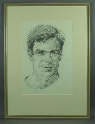 Original framed sketch of John Warren  by artist Louis Kahan c.1972; Artwork; 1993.2860.8