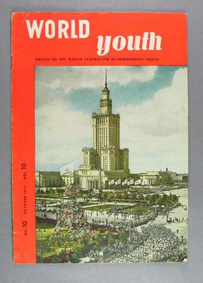"Magazine, ""World Youth"" vol10 no10 October 1955"
