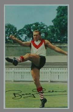 1965 Mobil Footy Photos Bob Skilton trade card; Documents and books; 1991.2447.34