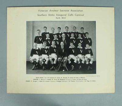 Southern States Inaugural Colts Carnival Perth 1955