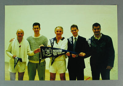Photograph, MCC Squash Section - F Grade Premiers, Autumn 2000