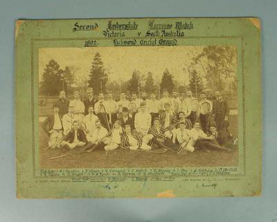 Sepia tint photograph - Second Interstate Lacrosse Match, 1862, Victoria v South Australia