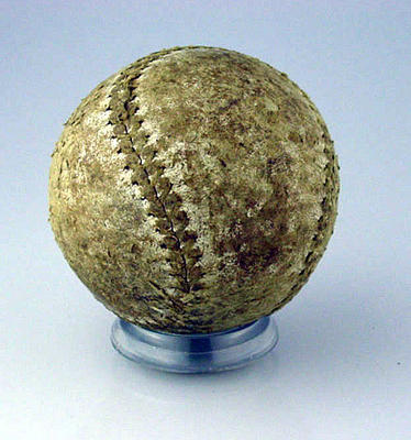 Leather softball, date unknown