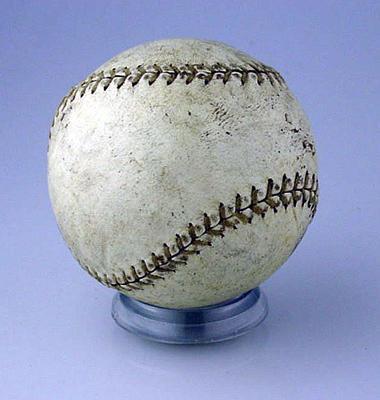 Leather softball, circa 1980