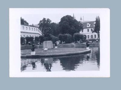 Photograph of Prague park scene, c1955