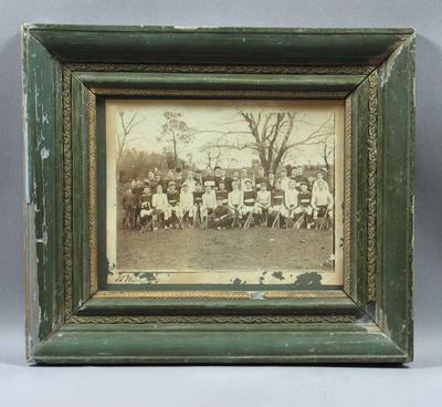 Framed black and white photograph - Lacrosse team - undated