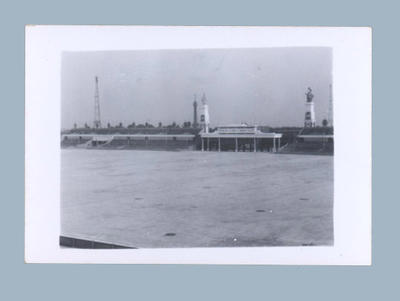 Photograph of Prague sporting stadium, c1955