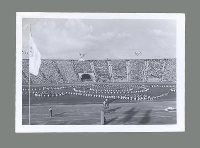 Photograph of Opening Ceremony, International Friendly Sports Meeting of Youth 1955