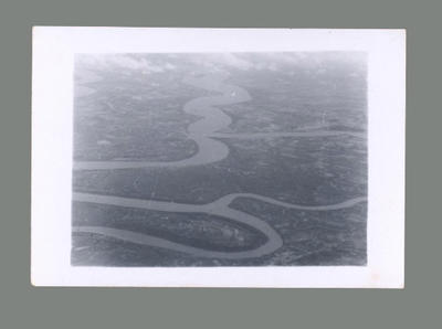 Aerial photograph of Ganges Delta, c1955