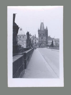 Photograph of Prague street scene, c1955