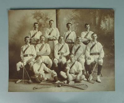 Black and white sepia photograph Point Lacrosse Club 1905
