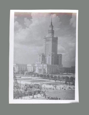 Photograph of Warsaw buildings, c1955