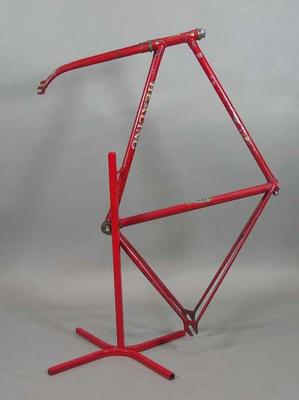 Bicycle frame used by Russell Mockridge, made by Healing