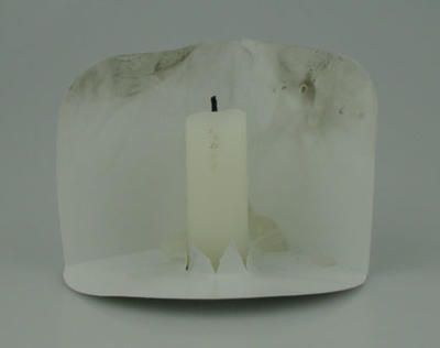 Candle holder, used at Sir Donald Bradman state memorial service - 25 March 2001