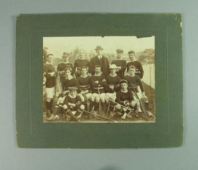Photograph of Tamar lacrosse team, c1913