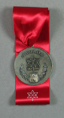 Silver medal from 1967 World Lacrosse Championships, won by Australia