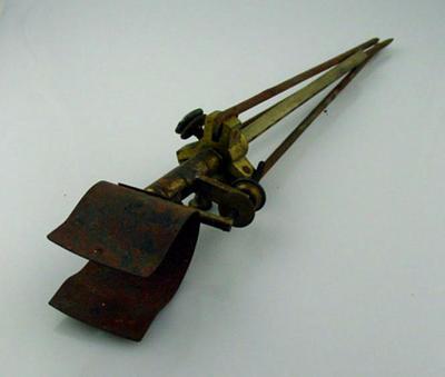 Tripod, part of a gun stand; Sporting equipment; M10197