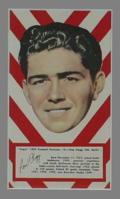1953 Argus Football Portrait Ron Clegg trade card