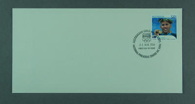 First day cover - Australian Gold Medalists: Grant Hackett - issued 23/8/2004; Philatelics and currency; 2004.4090.9