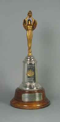 Trophy for Commonwealth Jubilee Lacrosse Carnival 1951, won by Victoria