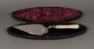 Trowel, used to lay foundation stone for Melbourne Cricket Club stand - 1906