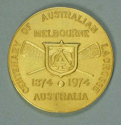 Participants medal, 1974 World Lacrosse Championships