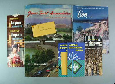 Printed material promoting Japan as a tourist destination - c1960-62