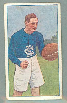 1922 Magpie Cigarettes Victorian League Footballers Charlie Canet trade card