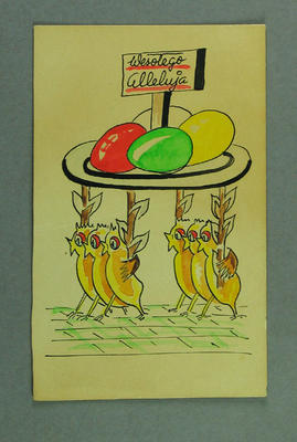 Greeting card, sent to Shirley Strickland for Easter 1956