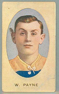 1909-10 Standard Cigarettes Australian Footballers William Payne trade card