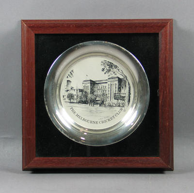 """Engraved bowl, """"The Melbourne Cricket Club"""""""