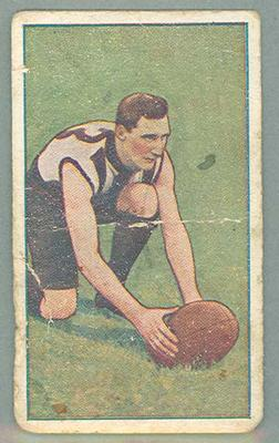 1922 Magpie Cigarettes Victorian League Footballers Dick Lee trade card