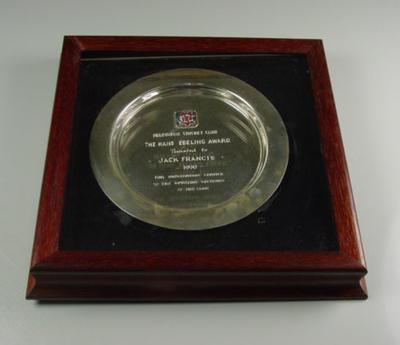 MCC Hans Ebeling Award, presented to Jack Francis - 1990