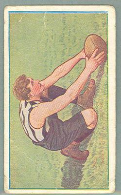 1922 Magpie Cigarettes Victorian League Footballers Con McCarthy trade card