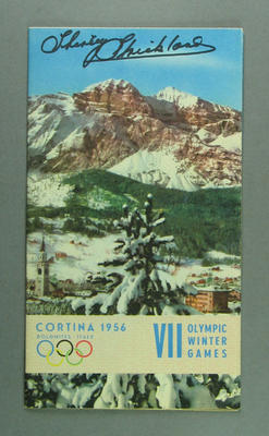 Brochure, 1956 Cortina Olympic Winter Games