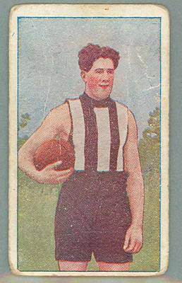1922 Magpie Cigarettes Victorian League Footballers Bill Twomey Sr trade card