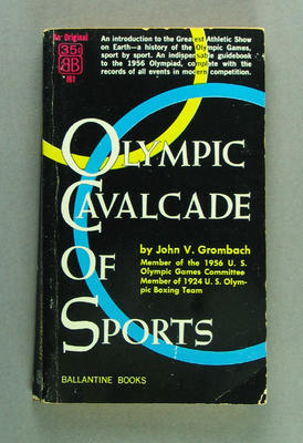 "Book, ""Olympic Cavalcade of Sports"" by John V Grombach"